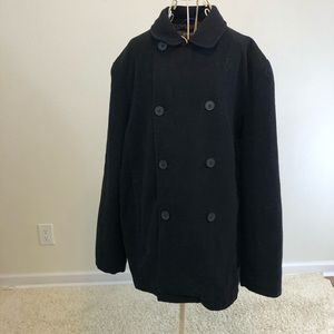 kenneth cole reaction Trench Coat SZ XL 80% Wool.